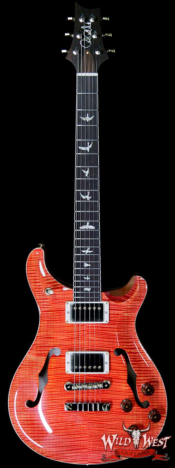 PRS Wild West Guitars 20th Anniversary Limited Run # 14 of 40 Wood Library Artist Package McCarty 594 Hollowbody II Salmon(Private Stock Color)