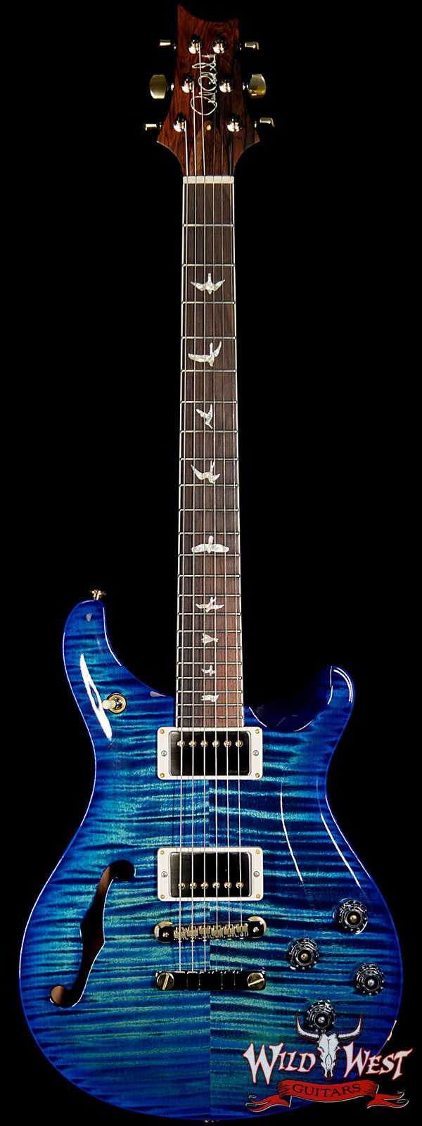 PRS Wild West Guitars 20th Anniversary Limited Run # 29 of 40 Wood Library Artist Package Semi-Hollow McCarty 594 River Blue Burst