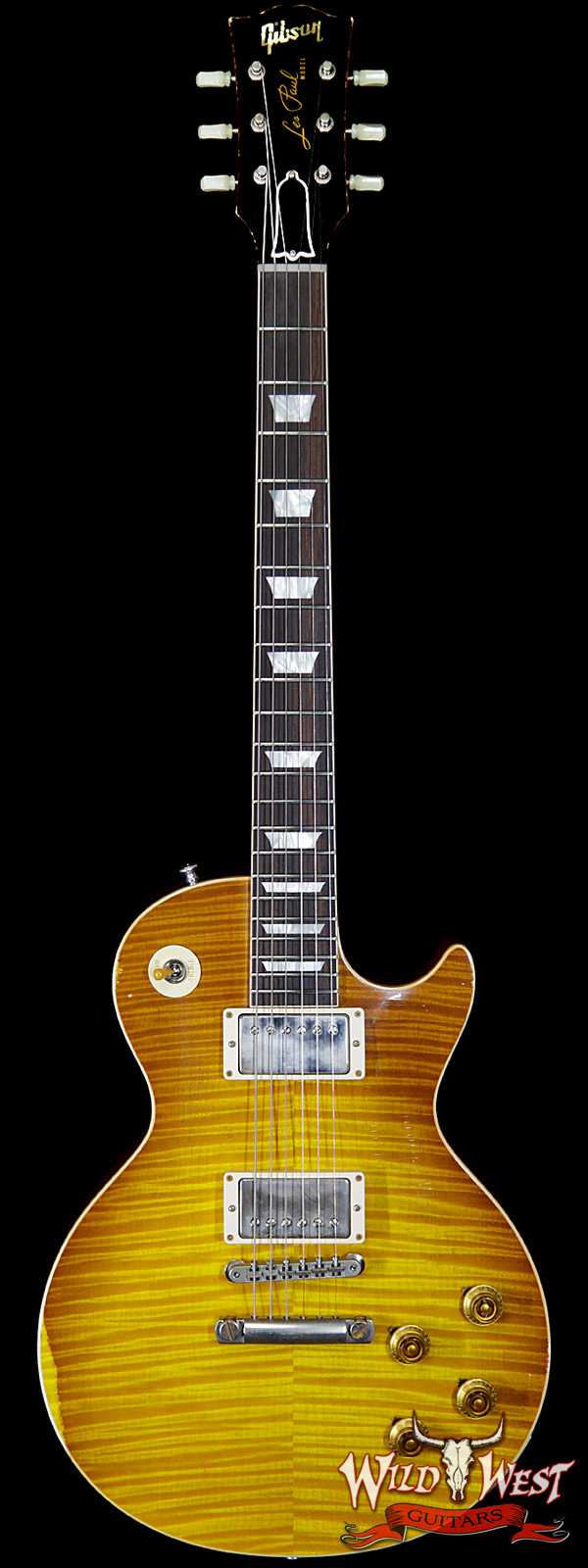 Gibson Custom Shop Historic 1959 Les Paul Aged Hand Selected Killer Top Brazilian Rosewood Board Honey Lemon Fade 8.30 LBS