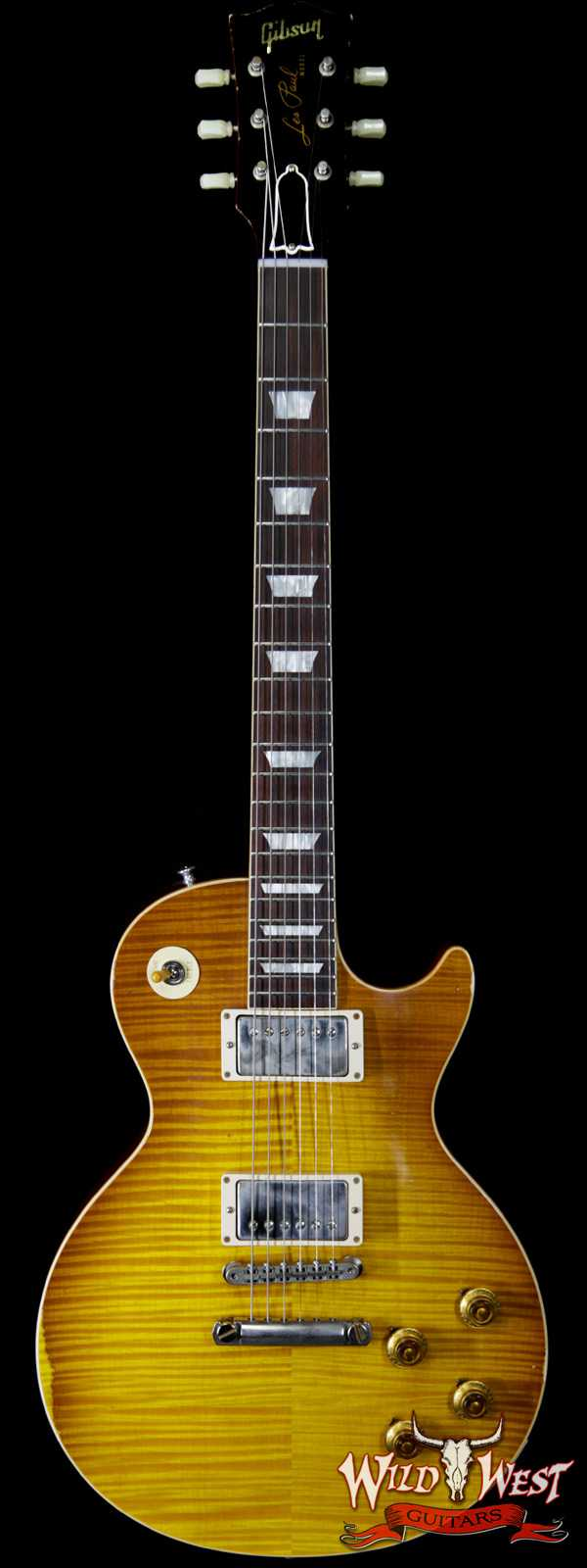Gibson Custom Shop Historic 1959 Les Paul Aged Hand Selected Killer Top Brazilian Rosewood Board Honey Lemon Fade 8.40 LBS