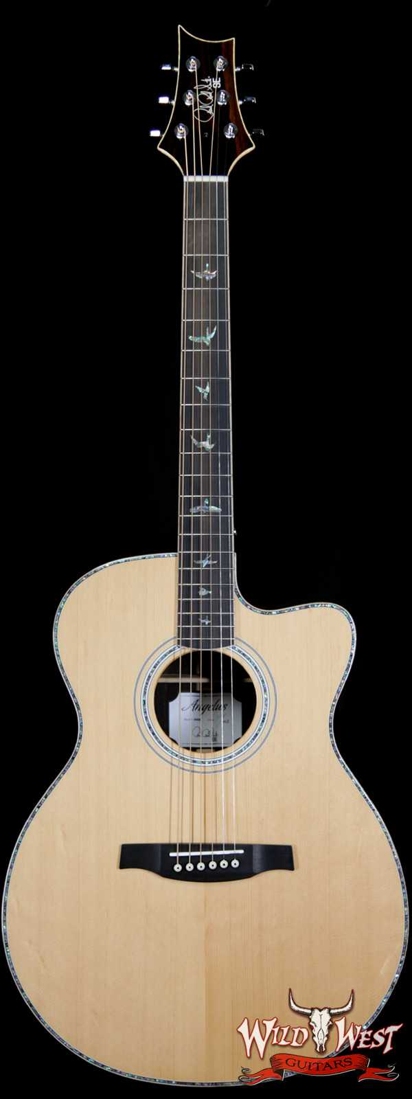 PRS SE A60E Cutaway Electric-Acoustic Guitar Sitka Spruce Top with Ziricote Back & Side Ebony Fingerboard