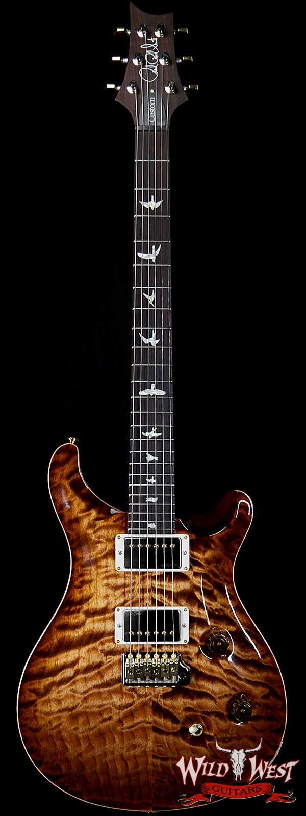 PRS Wood Library 10 Top Custom 24 Quilt Maple Top Brazilian Rosewood Fingerboard Copperhead Burst