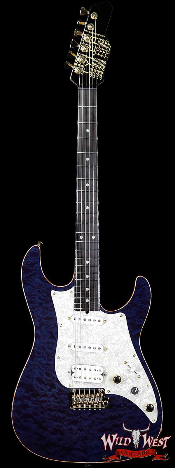 James Tyler USA Studio Elite HD Quilted Maple Top Flame Maple Neck Ebony Fingerboard Royal Blue