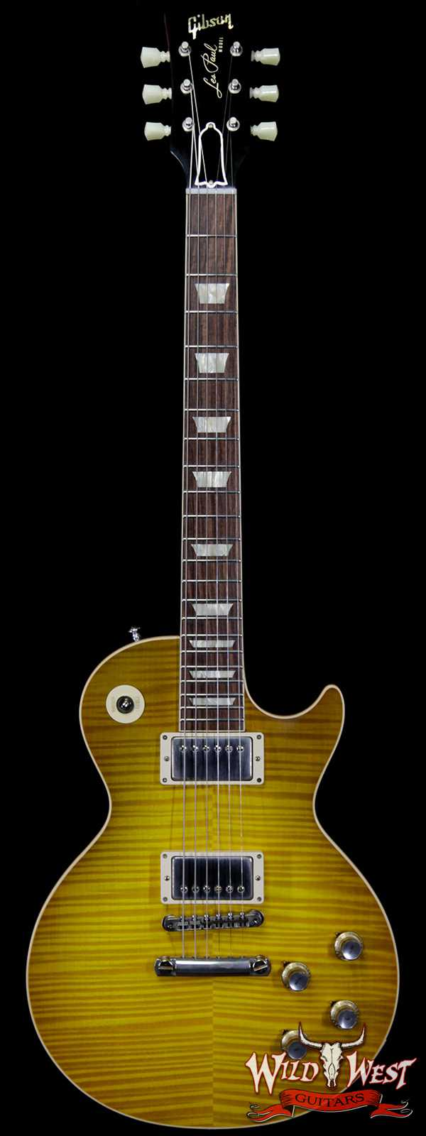 Gibson Custom Shop M2M Hand Selected Kill Top 1960 Les Paul Standard '60 Reissue R0 VOS Green Lemon Fade 8.40 LBS