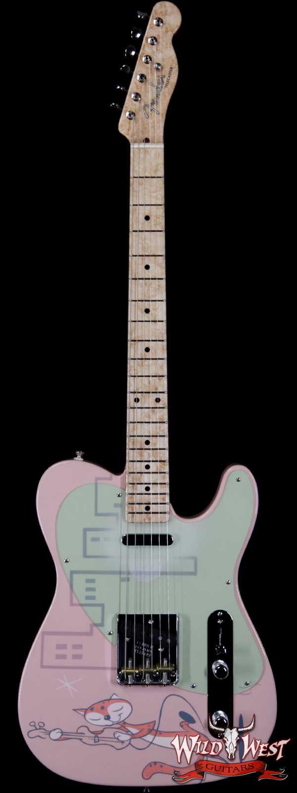 2020 NAMM Fender Custom Shop Dale Wilson Masterbuilt 50's Pink Special Telecaster NOS Artwork by Chris Schnabel One of Kind