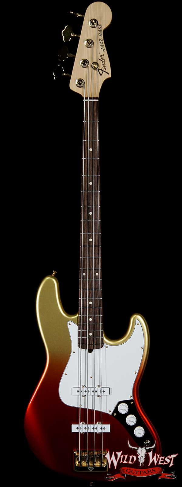 2020 NAMM Fender Custom Shop Jason Smith Masterbuilt 70s Jazz Bass NOS Indian Rosewood Board Red to Gold Stratoburst