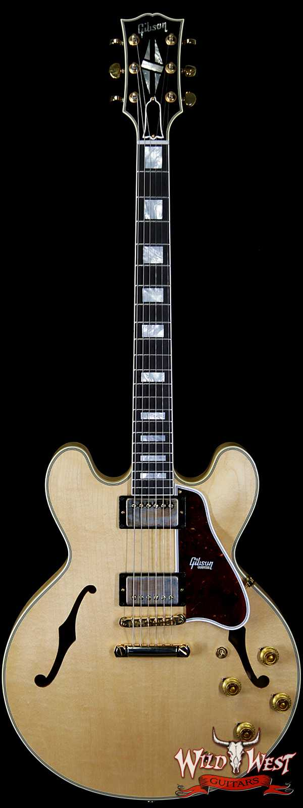 2020 NAMM Gibson Custom Shop 1959 ES-355 Reissue VOS Stop Bar Ebony Fingerboard Vintage Natural