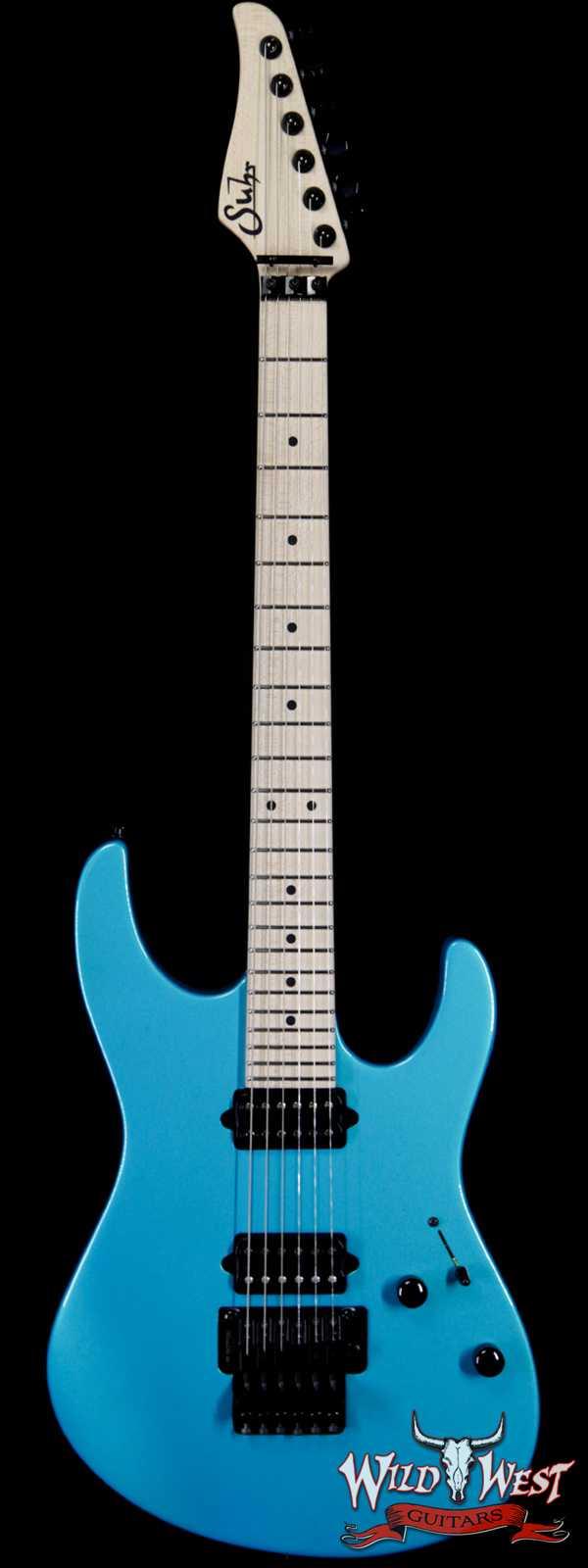Suhr Custom Modern HH Gotoh Floyd Revers Headstock Maple Neck Blue Chill