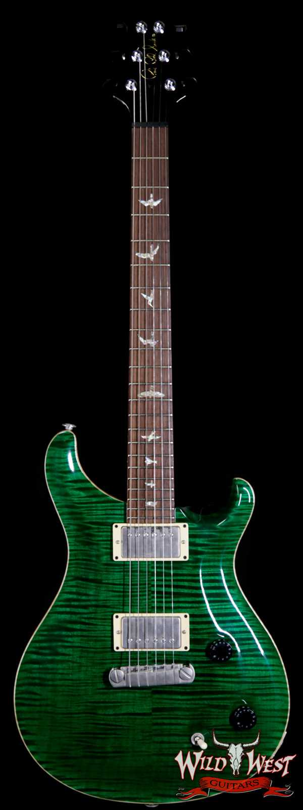 2001 Paul Reed Smith PRS 10 Top Flame Custom 22 Stoptail Emerald Green