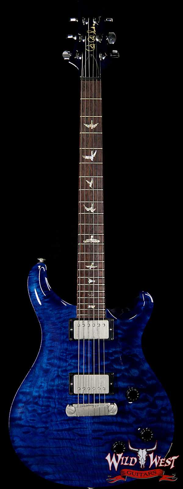 1998 Paul Reed Smith PRS 10 Top Quilt Maple Top Custom 22 Stoptail Whale Blue