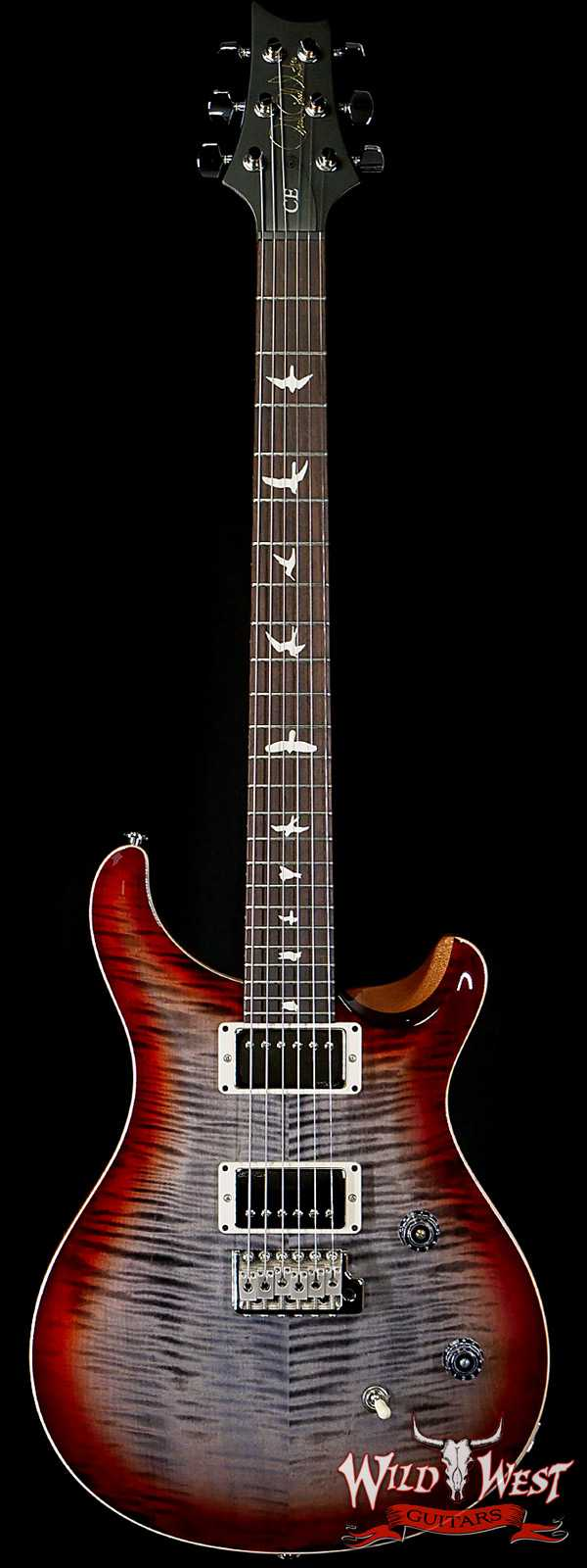 PRS WWG Special Run CE 24 57/08 Pickups Painted Black Neck Faded Gray Black Cherry Burst 294531