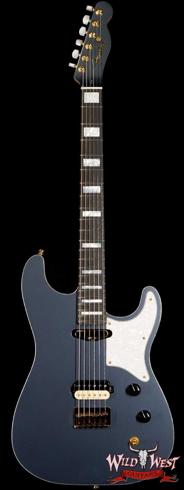 2020 NAMM Fender Custom Shop Kyle McMillin Masterbuilt Hybrid Stratocaster NOS SH Ebony Fingerboard Charcoal Frost Metallic
