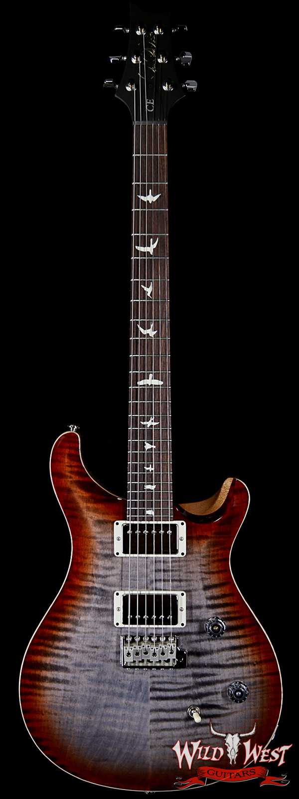 PRS WWG Special Run CE 24 57/08 Pickups Painted Black Neck Faded Gray Black Cherry Burst 292572