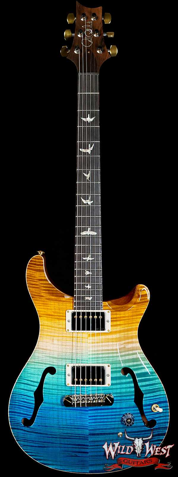 PRS Wild West Guitars 20th Anniversary Limited Run # 9 of 40 Wood Library Artist Package Hollowbody I Piezo HB1 Beach Cross Fade(Private Stock Color)