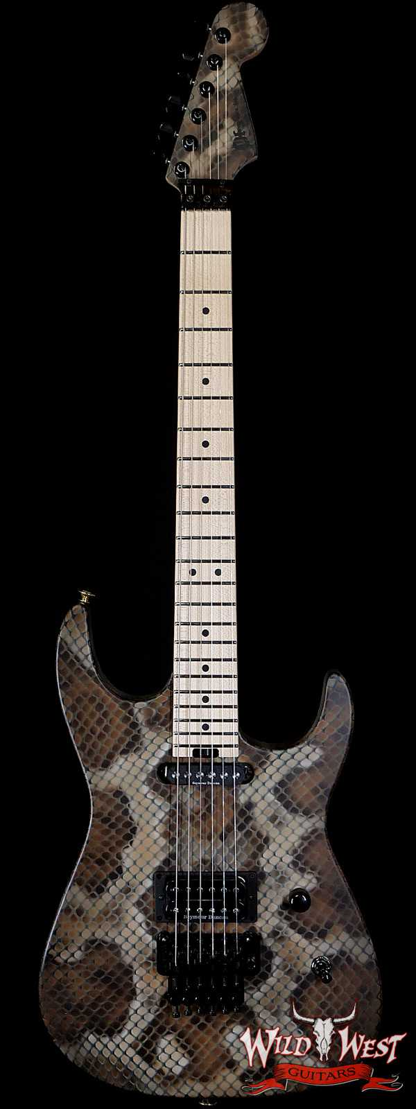 Charvel USA Warren DeMartini Signature Snake Guitar SH Floyd Rose Snakeskin Graphic Signed By Warren DeMartini