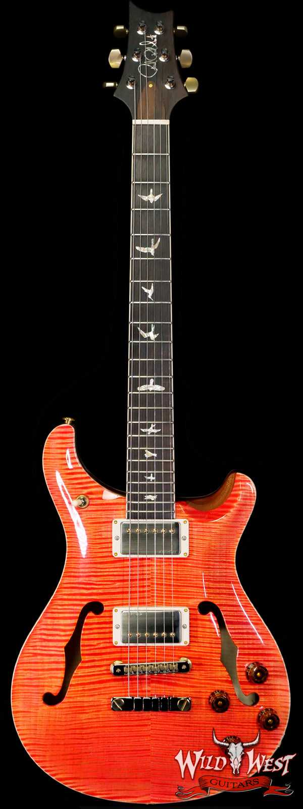 PRS Wild West Guitars 20th Anniversary Limited Run # 15 of 40 Wood Library Artist Package McCarty 594 Hollowbody II Salmon(Private Stock Color)