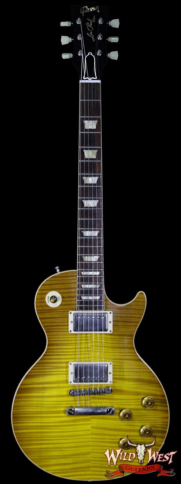 Gibson Custom Shop M2M Hand Selected Kill Top 60th Anniversary 1959 Les Paul Standard VOS Honey Lemon Fade 8.55 lbs