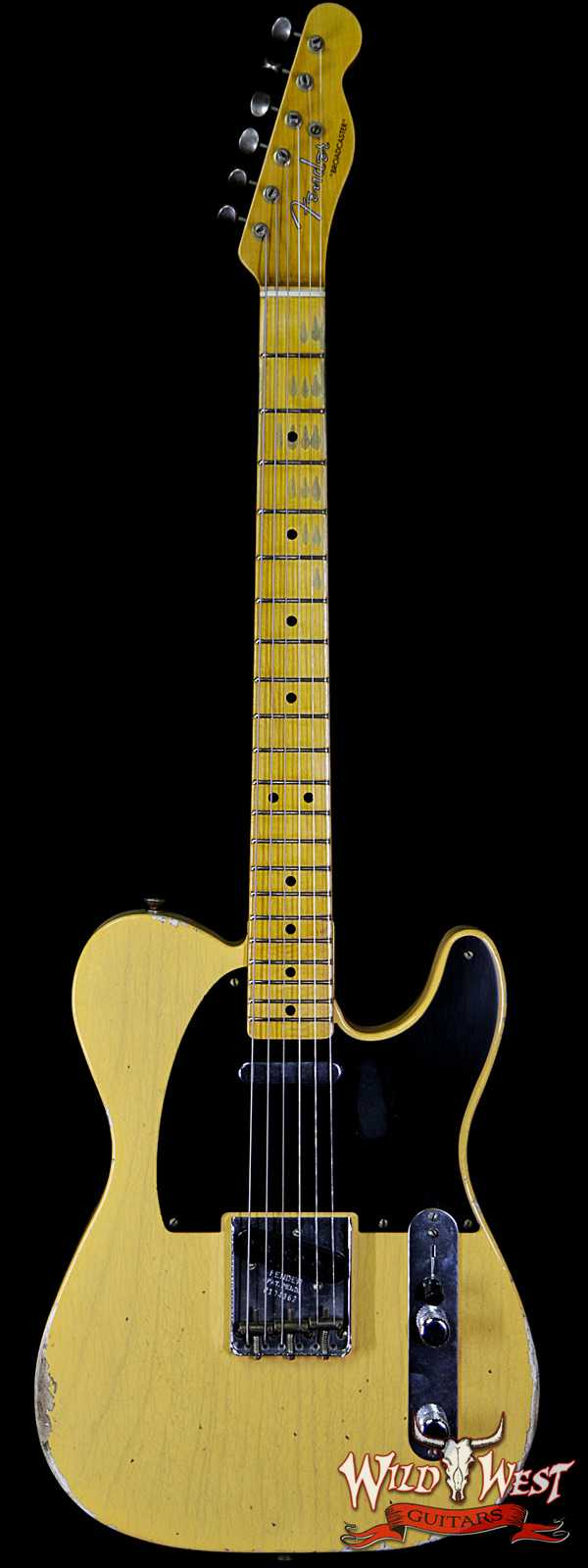 Fender Custom Shop Limited Edition 70th Anniversary Broadcaster (Telecaster) Relic Nocaster Blonde R104362