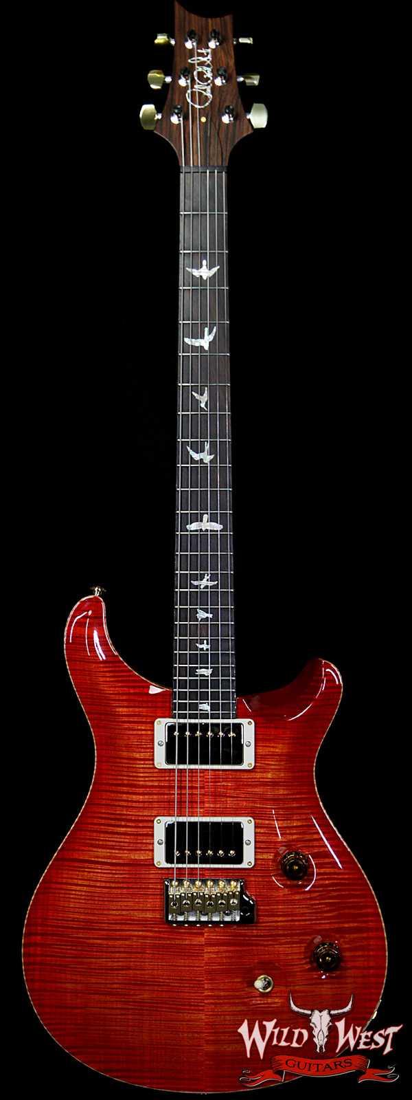 PRS Wild West Guitars 20th Anniversary Limited Run # 36 of 40 Wood Library Artist Package Custom 24 Brazilian Rosewood Fingerboard Blood Orange