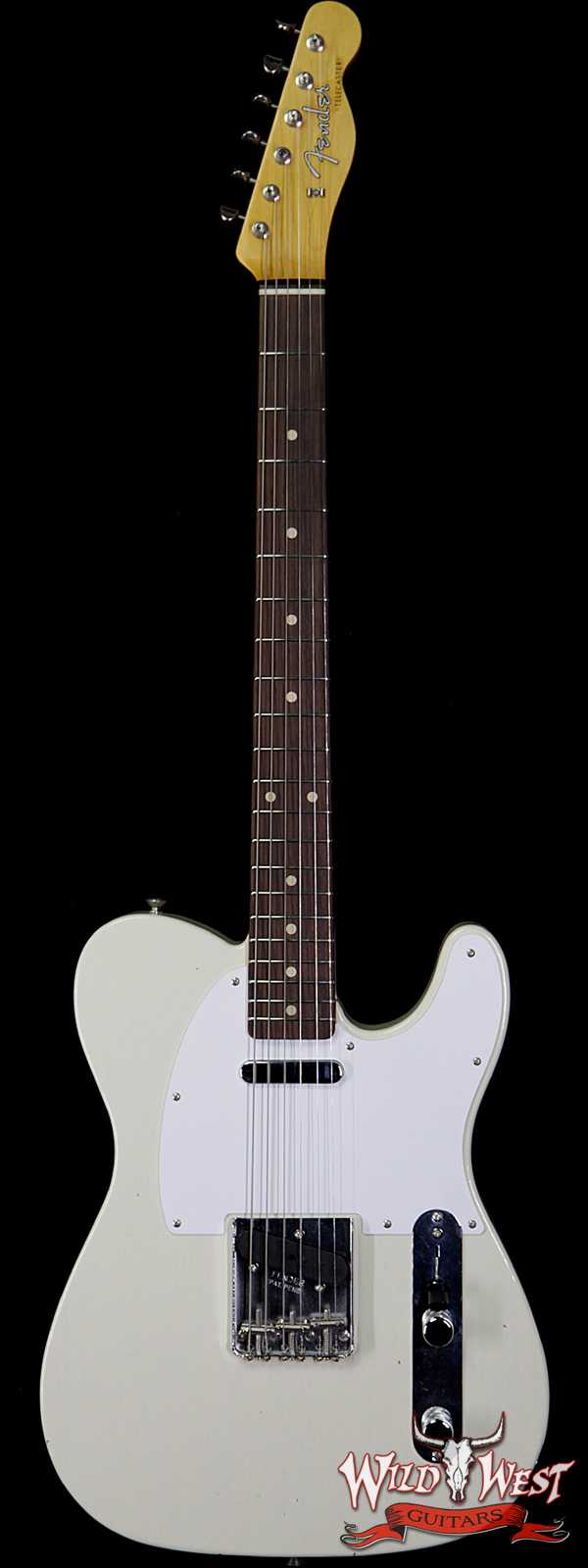 Fender Custom Shop Jimmy Page Signature Telecaster Journeyman Relic AAA Rosewood Slab Board White Blonde R101642