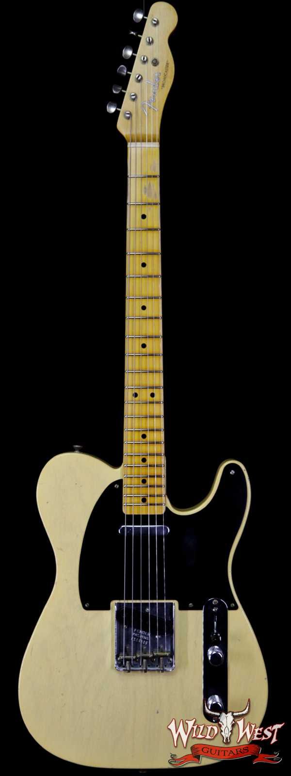 Fender Custom Shop Limited Edition 70th Anniversary Broadcaster (Telecaster) Journeyman Relic Nocaster Blonde R104509