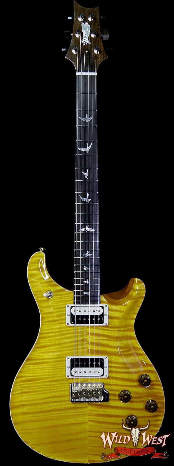 PRS Private Stock #8432 McCarty Trem Semi-Hollow in 25.5'' Scale Brazilian Rosewood Fingerboard Flame Maple Neck Honey Gold