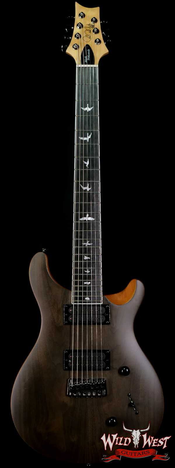 Paul Reed Smith PRS SE Mark Holcomb SVN Signature 7-String Guitar Natural Satin (Walnut Veneer) Blemish