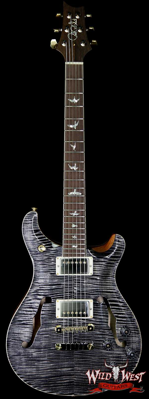 PRS Wild West Guitars 20th Anniversary Limited Run # 18 of 40 Wood Library Artist Package McCarty 594 Hollowbody II Charcoal