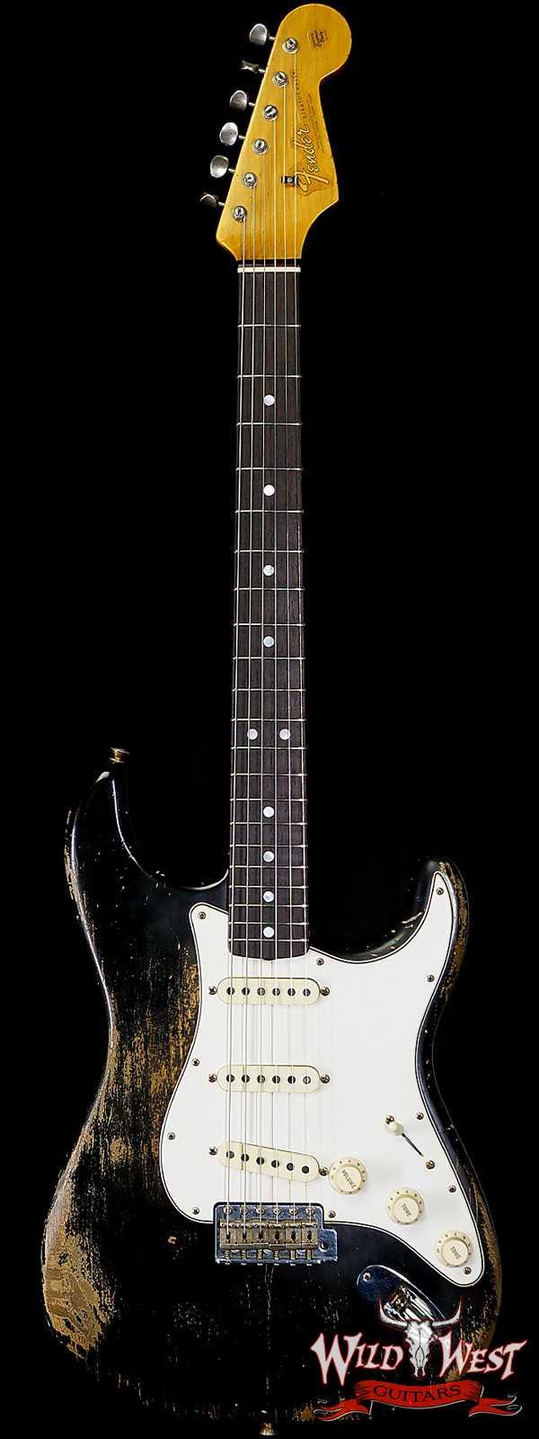 Fender Custom Shop Greg Fessler Maserbuilt 1964 Stratocaster Relic Rosewood Fingerboard Black