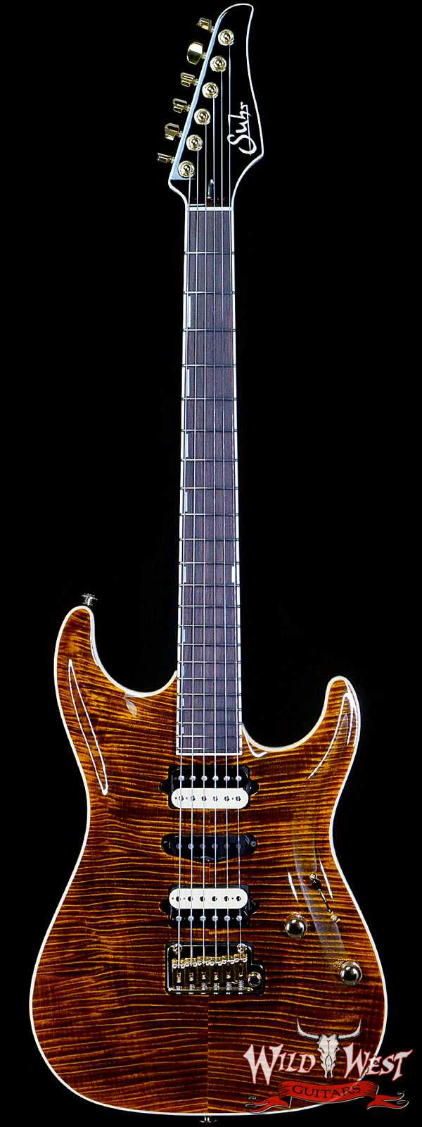 Suhr Custom Standard Carve Top HSH Hand-Selected Flame Maple w/ Alder Indian Rosewood Fingerboard Bengal