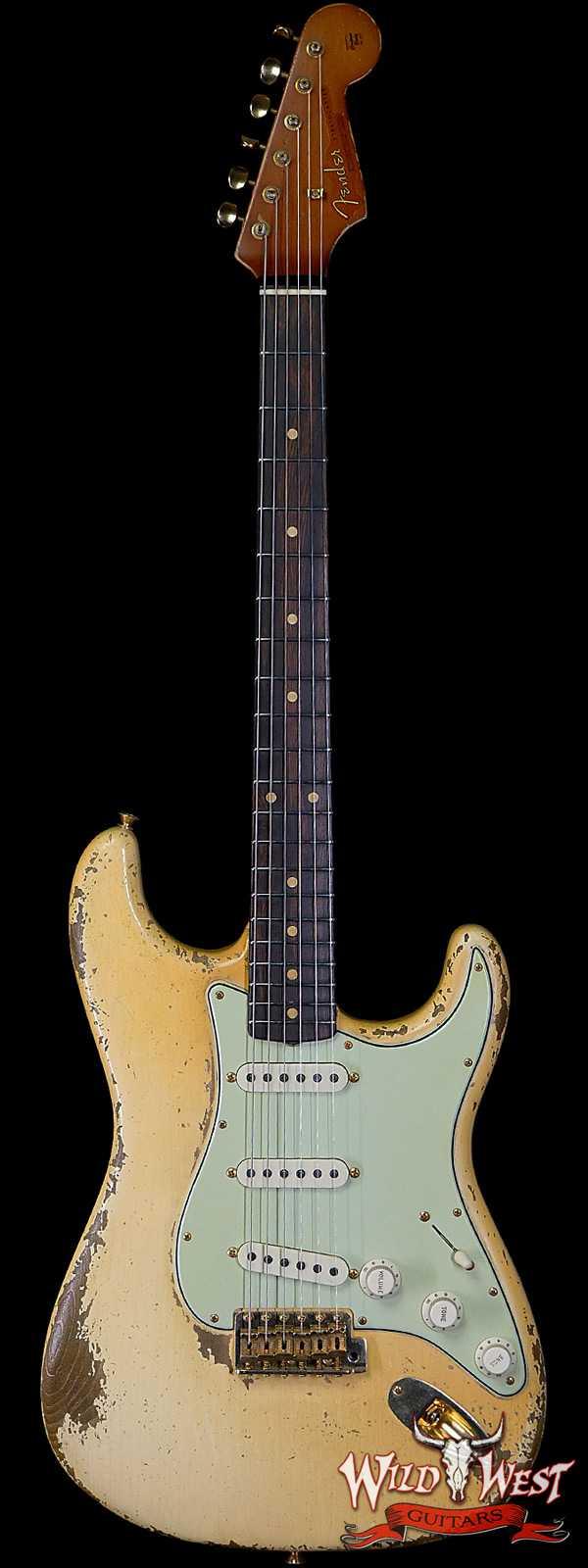 Fender Custom Shop Dale Wilson Masterbuilt 1963 Stratocaster Heavy Relic Brazilian Rosewood Fingerboard Vintage White