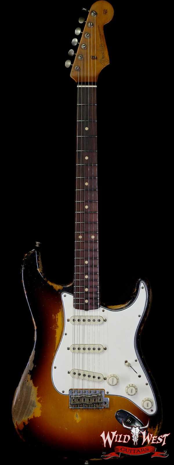 Fender Custom Shop Dale Wilson Masterbuilt 1960 Stratocaster Heavy Relic Brazilian Rosewood Slab Board 3 Tone Sunburst