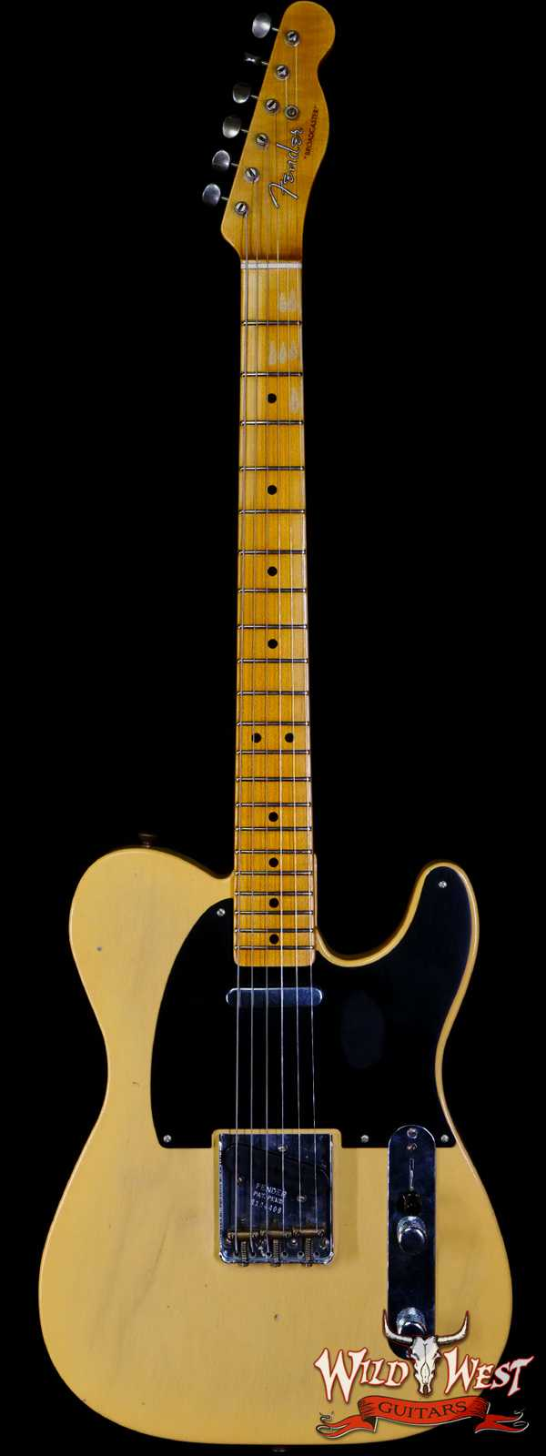 Fender Custom Shop Limited Edition 70th Anniversary Broadcaster (Telecaster) Journeyman Relic Nocaster Blonde R104408