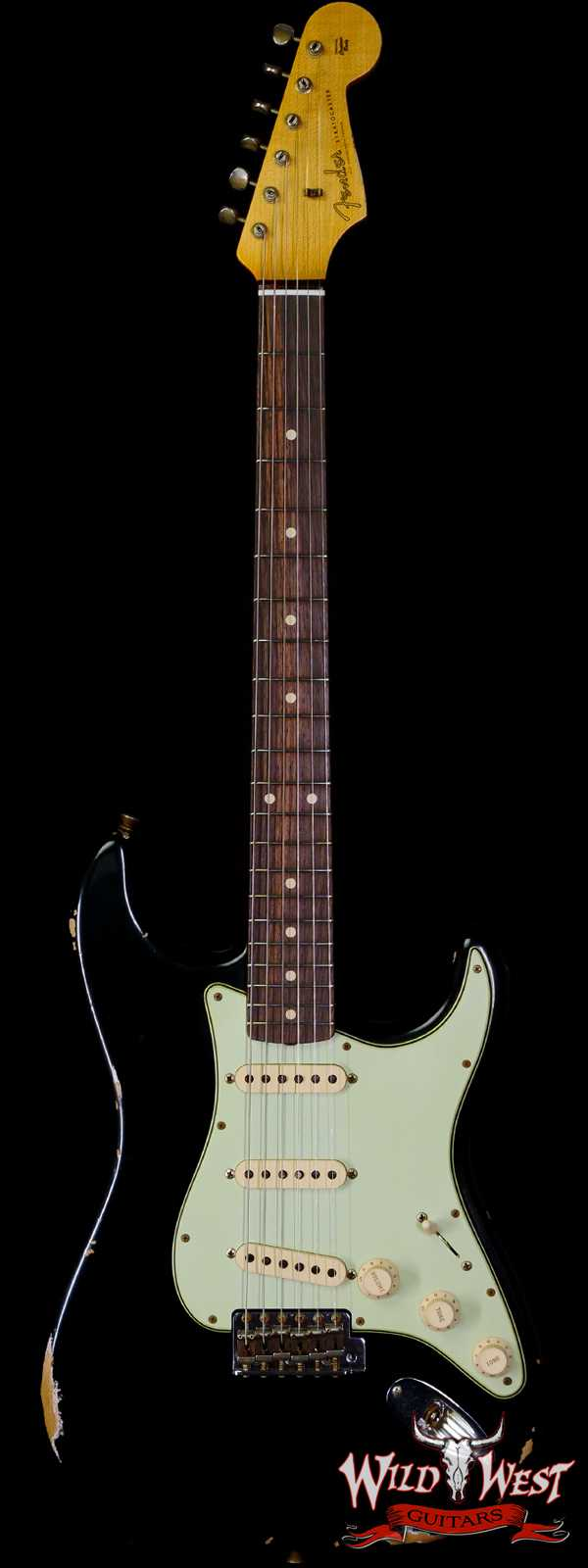 Fender Custom Shop 1962 Stratocaster Relic AAA Rosewood Board with Quartersawn Maple Neck Black