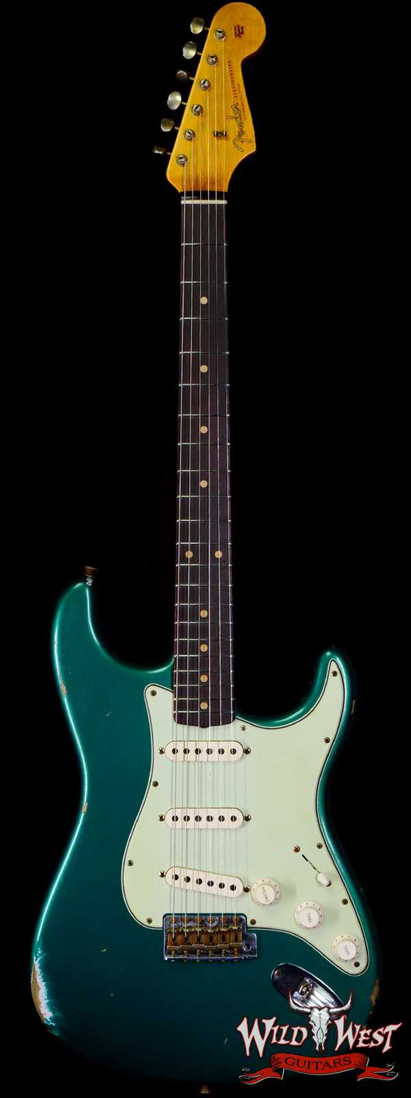 Fender Custom Shop 1961 Stratocaster Relic AAA Rosewood Slab Board Maple Neck British Racing Green