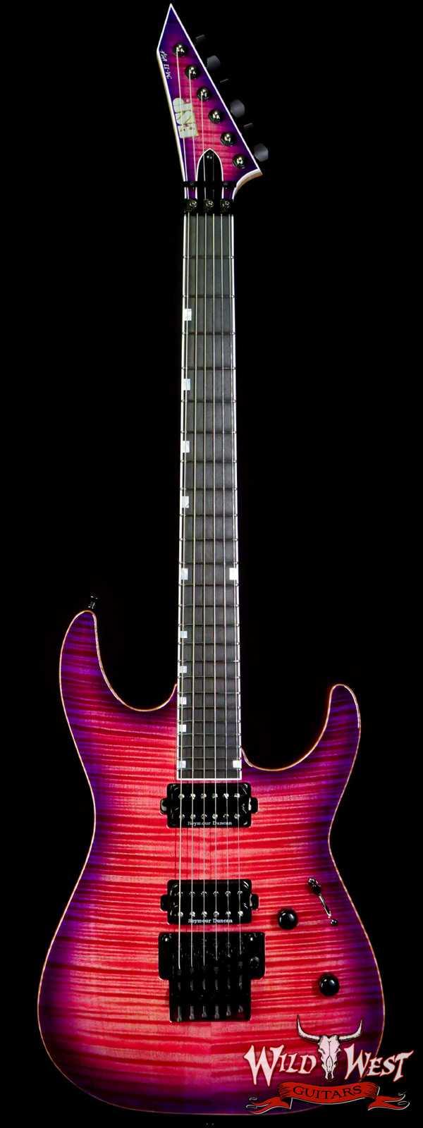 ESP USA M-II DLX FR Floyd Rose Flame Maple Top Ebony Fingerboard Seymour Duncan Pickups Cranberry Burst