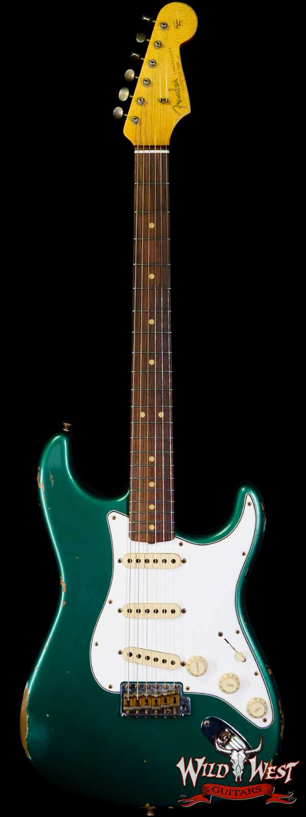 Fender Custom Shop 1963 Stratocaster Relic AAA Rosewood Board with Quartersawn Maple Neck British Racing Green