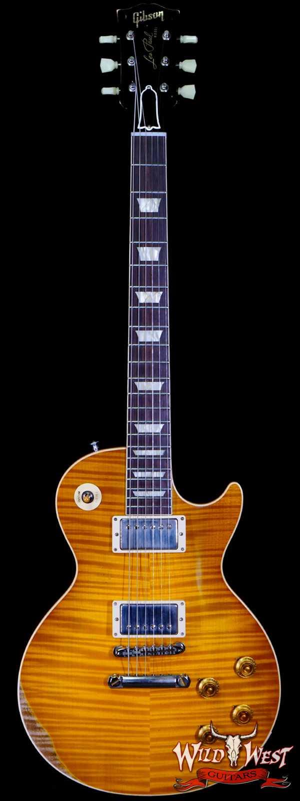 Gibson Custom Shop M2M Hand Selected Kill Top 60th Anniversary 1959 Les Paul Standard Heavy Aged DirtyLemon Fade 8.40 lbs