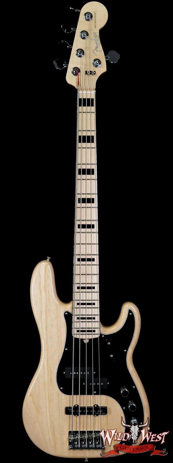 Fender Custom Shop Paul Waller Maserbuilt P-Bass Special V Active P/J  Pickups 5-String Precison Bass Natural