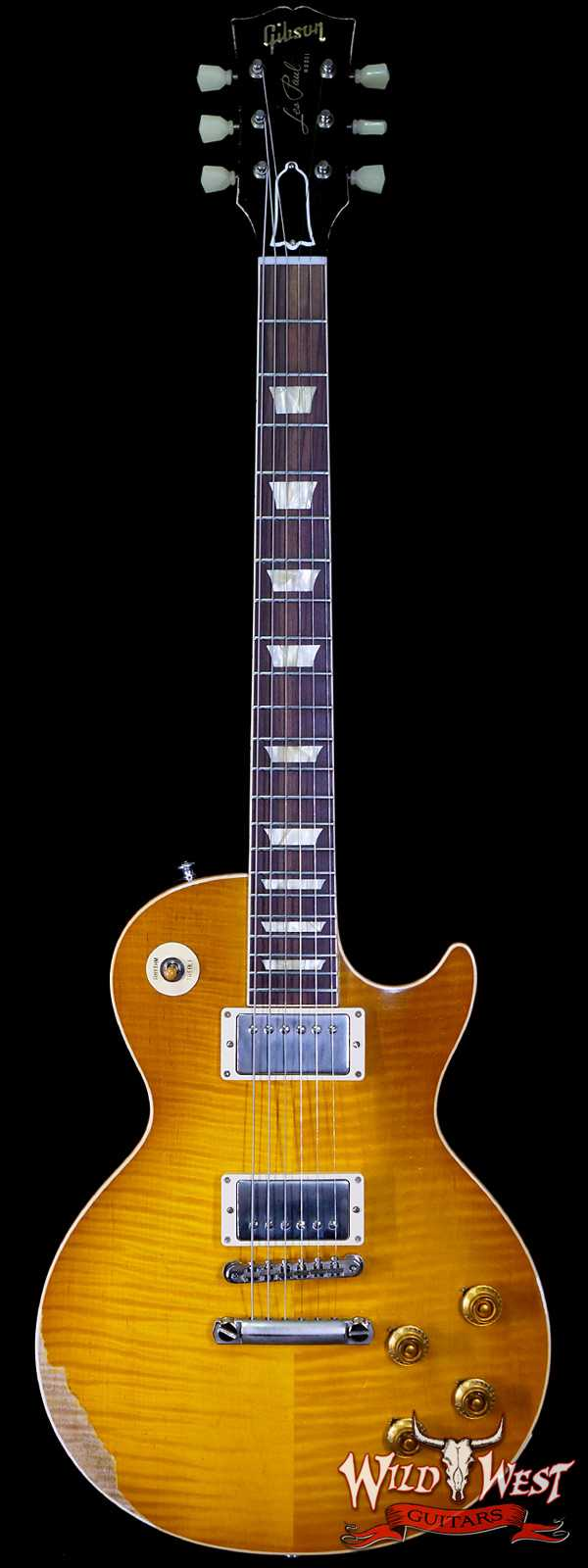 Gibson Custom Shop M2M Hand Selected Kill Top 60th Anniversary 1959 Les Paul Standard Heavy Aged Dirty Lemon Fade 8.60 lbs