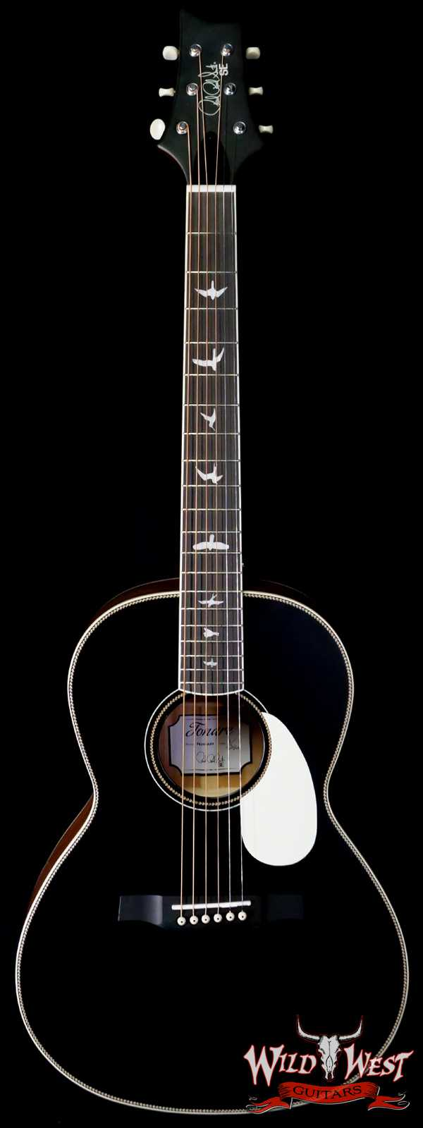 Paul Reed Smith PRS SE P20 Parlor Sized Acoustic Guitar Black Top