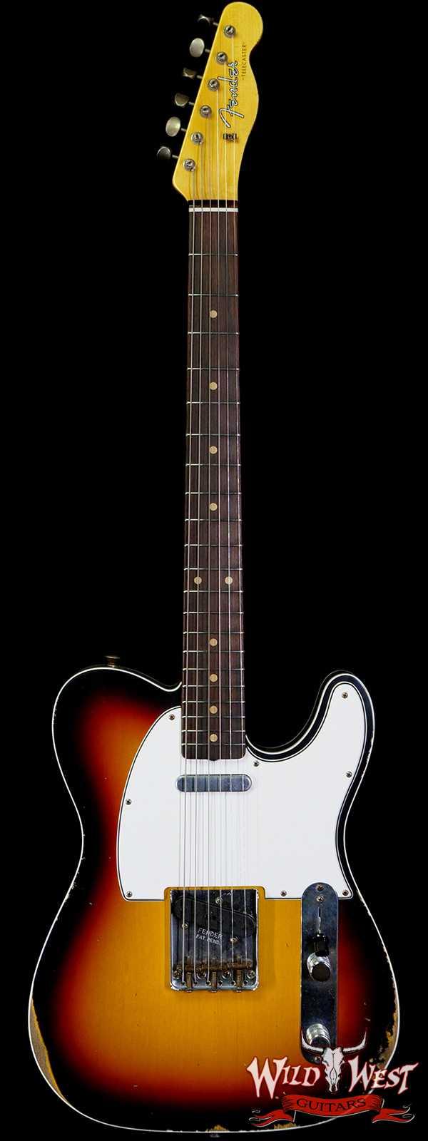 Fender Custom Shop 1960 Telecaster Custom Relic Quater-Sawn Maple AAA Rosewood Fingerboard 3 Tone Sunburst