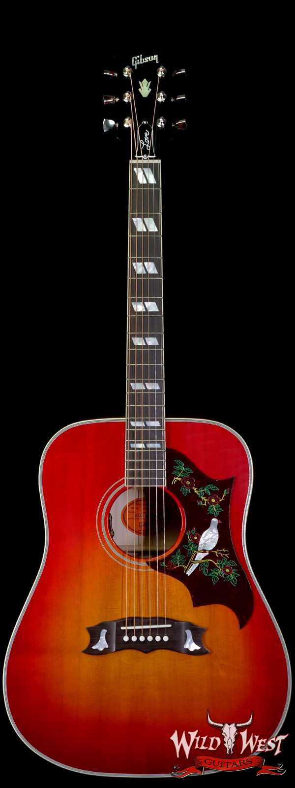 Gibson Montana Frank Hannon Love Dove Electric-Acoustic Vintage Cherry Sunburst Signed by Frank Hannon