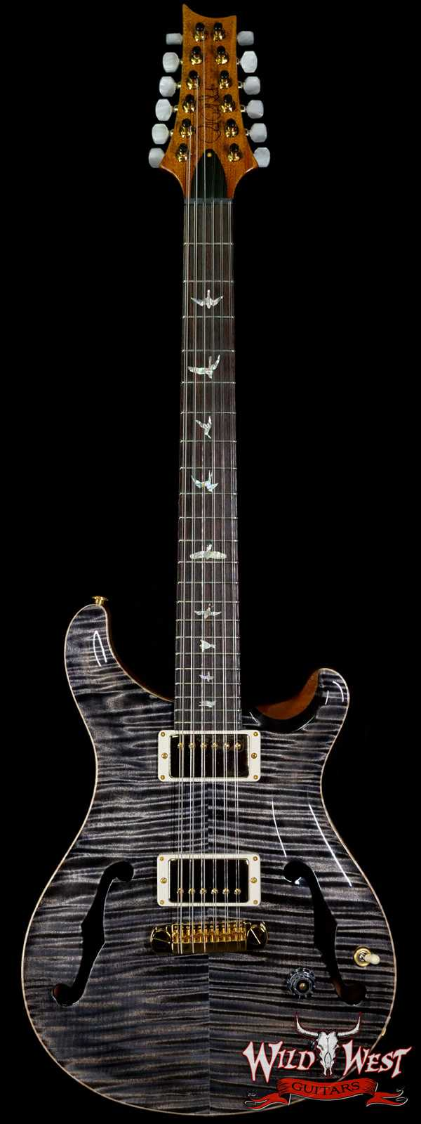 Paul Reed Smith PRS Core Flame 10 Top Hollowbody I HB1 12-String Rosewood Fingerboard Charcoal