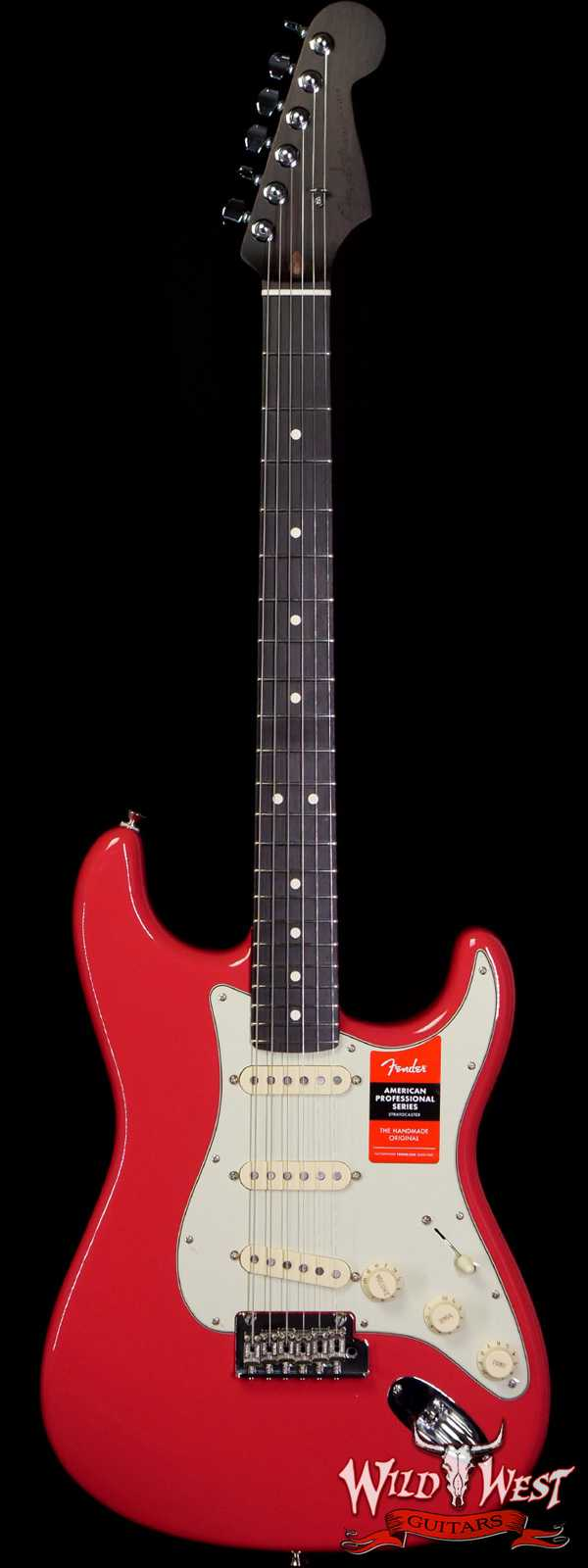 Fender USA Limited Edition American Professional Stratocaster Solid Rosewood Neck Fiesta Red