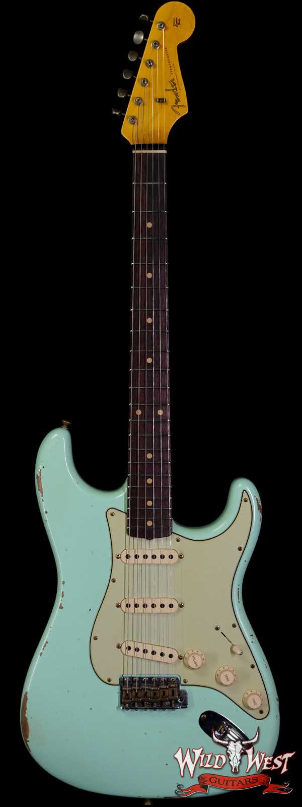 Fender Custom Shop 1961 Stratocaster Relic AAA Rosewood Slab Board with Maple Neck Surf Green