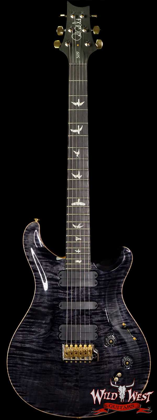 Paul Reed Smith PRS 2020 Experience Flame 10 Top 509 Ebony Fingerboard Gray Black