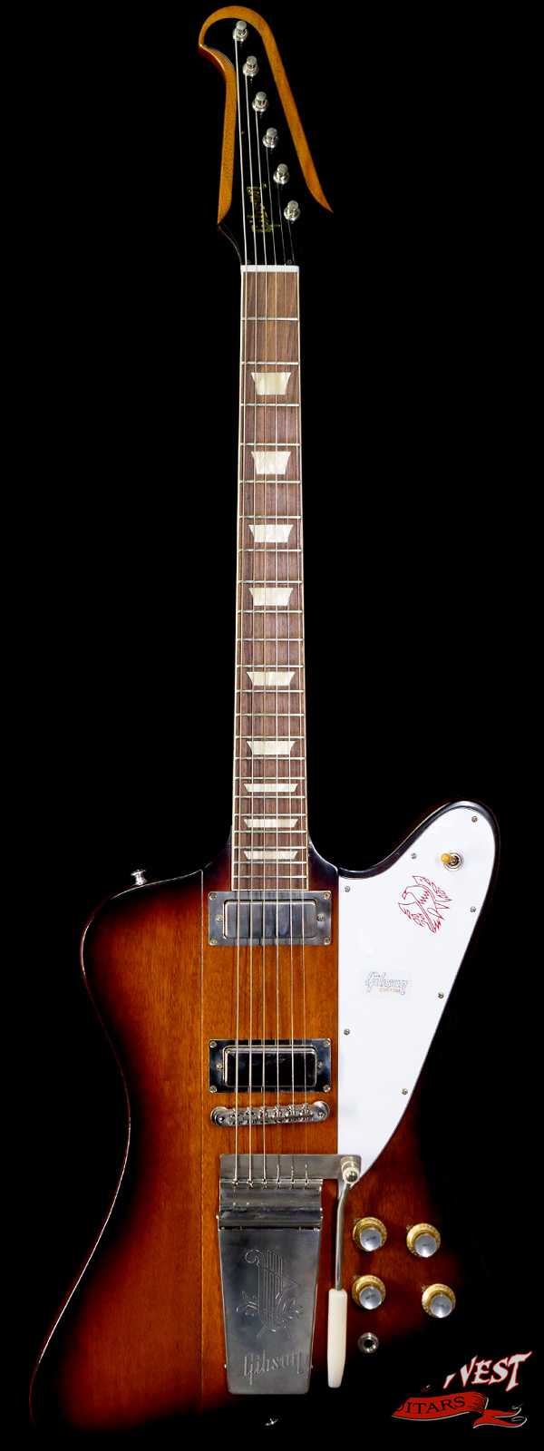 Gibson Custom Shop 1963 Firebird V Indian Rosewood Fingerboard VOS Vintage Sunburst