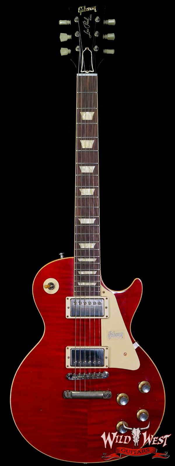 Gibson Custom Shop 1960 Les Paul Standard '60 Reissue R0 Figured Top Aged Cherry Red BOTB Page 158 8.45 LBS