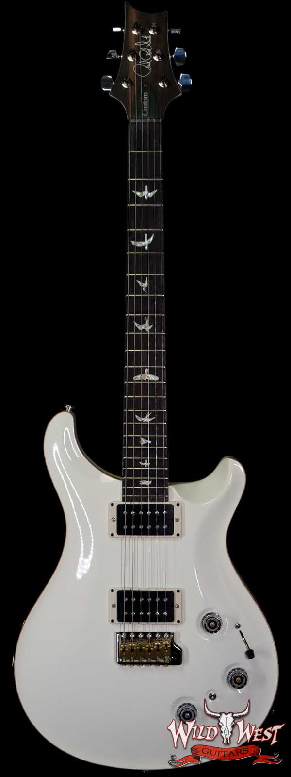 Paul Reed Smith PRS Core Model Flame Maple Top Custom 22 Piezo Rosewood Fingerboard Antique White